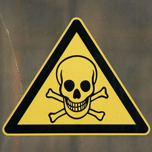 Toxic warning sign